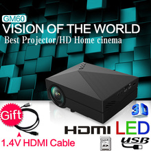 2015 Newest GM50 Upgrade GM60 GIFT HDMI Cable MINI Projector For Video Games TV Home Theatre Movie Support HDMI VGA AV SD GM60(China (Mainland))