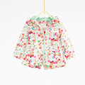 18M 6T New Baby Girl Autumn Floral Printed Hooded Jacket Female Kids Fall defined waist Trench