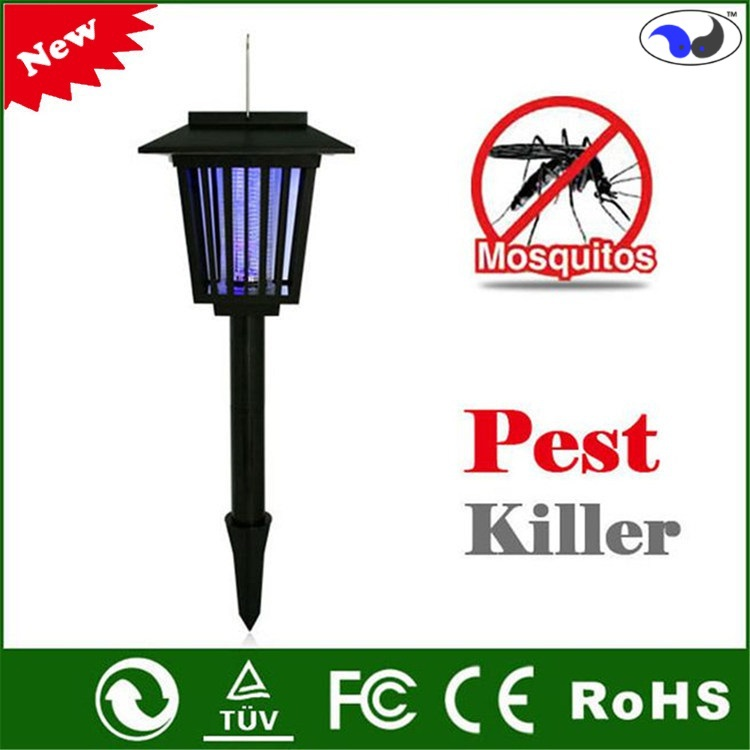 Eco-Friendly Solar Power Mosquito Pest Killer with LED Lamp - Mosquito, Fly, Insect(China (Mainland))
