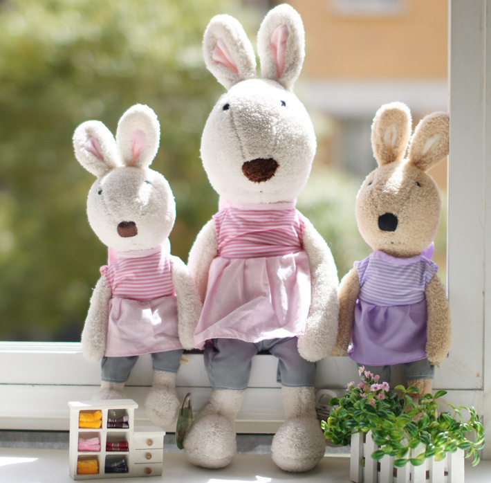 Free shipping SG316 angel stripe models lesucre sugar rabbit 30cm cute bunny doll plush toys manufacturers and wholesale(China (Mainland))