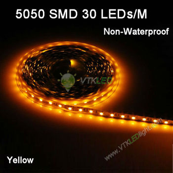 free shipping SMD5050 non-waterproof 30leds/m warm white/ cool white/ blue/ green/ red/ yellow/ rgb flexible led strip 100m/lot