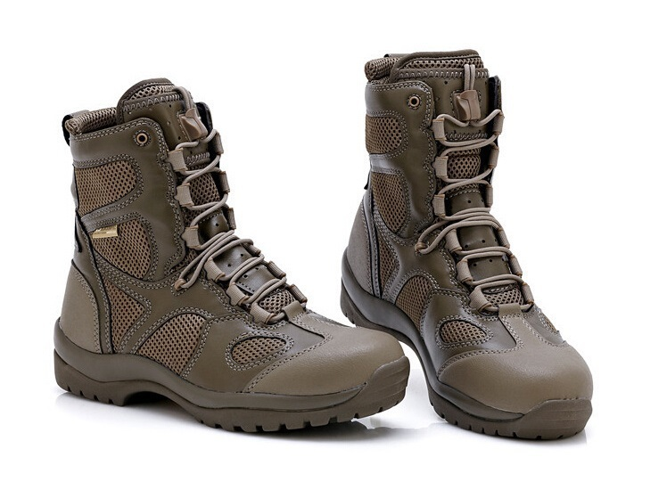 new 2015 brand mens swat boots male hiking shoes desert tactical combat boots Military shoes Brand Army Hiking Shoes Men Boots(China (Mainland))
