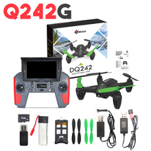 WLtoys Q242G Mini 5.8G FPV Video 2MP Real-time camera 2.4G 4CH 6-Axle 360 Degrees Flip RC Quadcopter Drone with 2.0MP Camera RTF