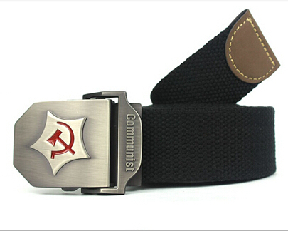 2015 New Men Belt Thicken Canvas Communist Military Belt Army Tactical Belt High Quality Strap 110 130 cm 12 Colors(China (Mainland))
