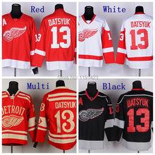 Discount Günstige 2014 Winter Pavel Datsyuk Detroit Red Wings Eishockey Trikots #13 Pavel Datsyuk Jersey Rot Genähte Jerseys(China (Mainland))