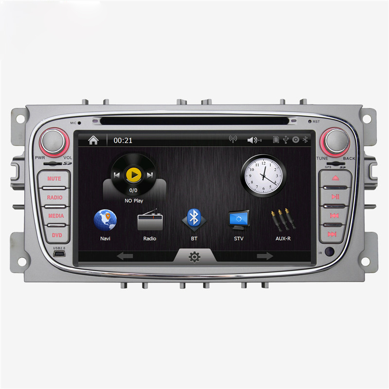 "7"" Wince Car DVD GPS Navigation for Ford Focus/Mondeo/S-max/C-max/Galaxy with DVD BT RDS Steering Wheel Control Free Shipping(China (Mainland))"