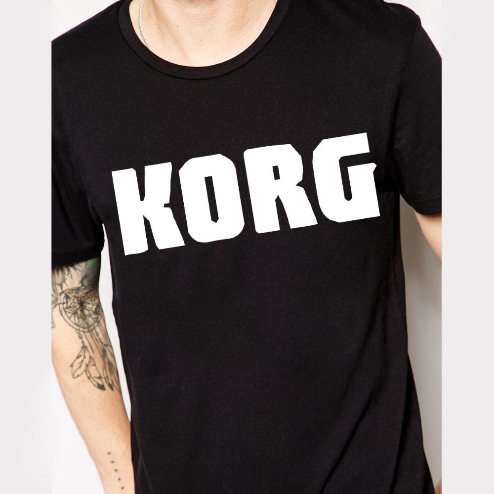 Euro Size KORG Keyboards Music T Shirts Men Cotton Short Sleeve O Neck Man T-Shirt Cycling Mens tshirt Free Shipping(China (Mainland))