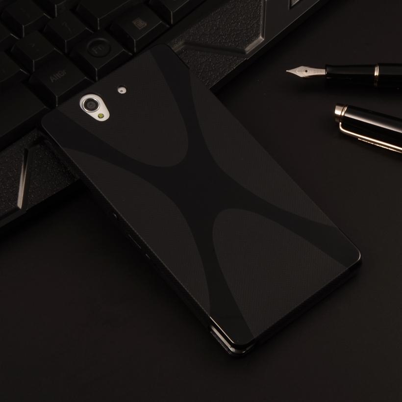 "L36H Case Silicone X-LINE Gel TPU Phone Case For Sony Xperia Z L36H L36I Yuga C6603 C6002 5.0"" Soft Back Cover Cell Phone Bag(China (Mainland))"