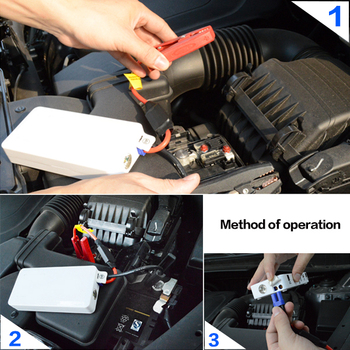 18000mAh Car Auto Jump Starter Battery Multi-Function Mini Portable Power Bank Charger Booster Light White