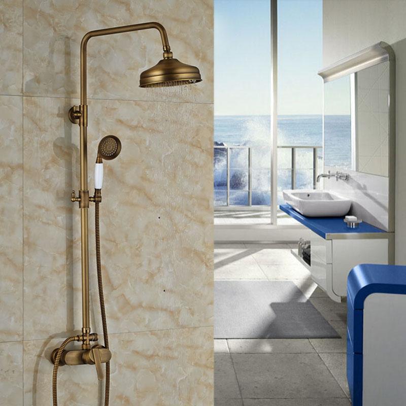 Compra ducha de bronce antiguo online al por mayor de for Grifo ducha antiguo