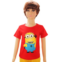 2015 Summer Style Despicable me Minions Clothes T Shirts For Girls Boys t shirts Kids Short