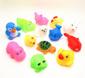 2Pcs Lovely 50 paragraph Mixed Animals Colorful Soft Rubber Float Squeeze Sound Squeaky Bathing Toy For