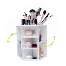 Fashion 360-degree Rotating Makeup Organizer Box Brush Holder Jewelry Organizer Case Jewelry Makeup Cosmetic Storage Box(China (Mainland))