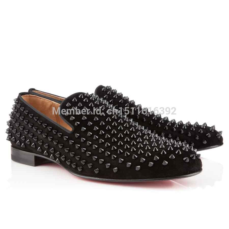 black christian louboutin mens sneakers - black red bottom heels with spikes, christian louboutins shoes for men