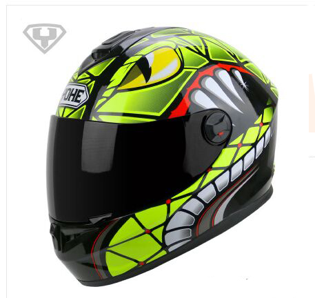 NEW ARRIVAL 100% Genuine High Quality YOHE full face helmets motorcycle helmet COOL Moto Casco Capacete four seasons YH966(China (Mainland))