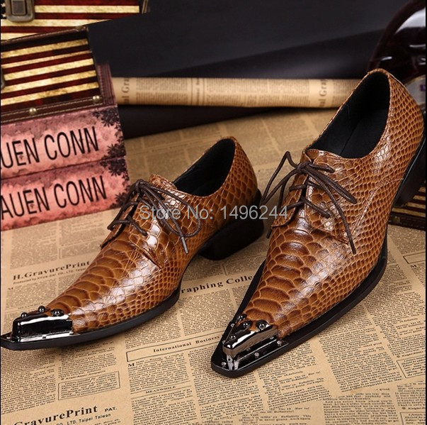 Фотография european style men fashion business dress shoes brand Qshoes real cowhide leather lace-up men