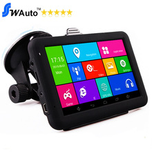 """5"""" Capacitive android GPS navigation navigator android 4.4.2 Quad Core 1.3GHz,8G,WIFI,AV-IN,Bluetooth transimt free maps(China (Mainland))"""