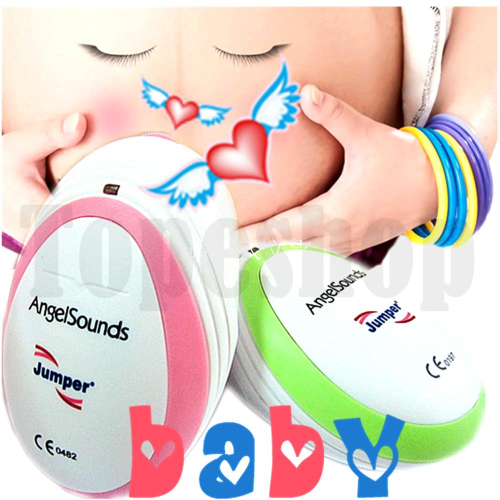 CE Jumper Pink or Green **Angelsound Fetal Doppler Angel Sounds Heart Pulse Rate Prenatal Unborn Baby Safty Ultrasound Monitor(China (Mainland))
