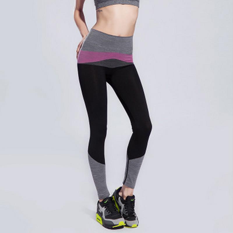High Elastic Exercise Tights Sport Yoga Running Pants ...