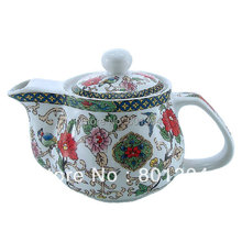 Blue Red and White Teapot Ceramic Tea Set with Infuser Ceramic Kungfu Tea Pot Free Shipping