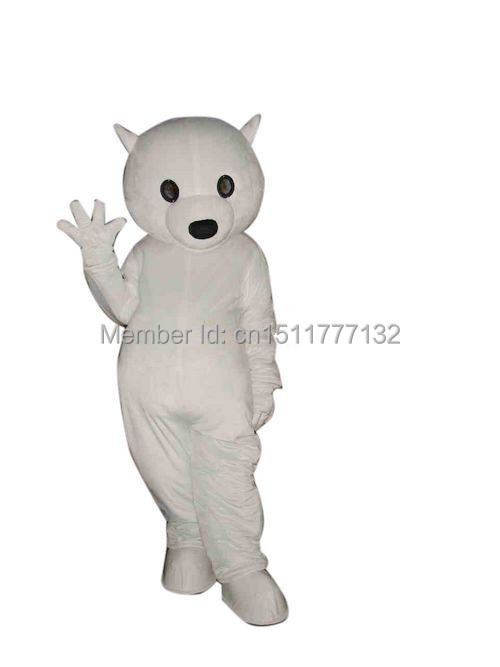 NEW STYLE High quality Best selling Cute White Bear Halloween Fancy Dress Animal mascot costume free shipping(China (Mainland))