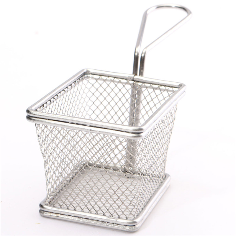 1Pcs Wholesale Stainless Steel Fryer Serving Food Presentation Basket Kitchen French Fries Novelty Kitchen Cooking Tools(China (Mainland))
