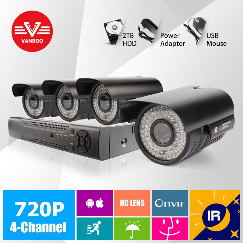 4CH Security IP Camera Outdoor H.264 2MP IR Cut Night Vision ONVIF 2.0 CCTV Full HD 720P 2 Megapixel Bullet IP Camera(China (Mainland))