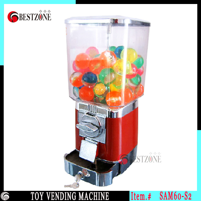 Kid Toy Candy Vending Machine for gumball or candies can contain 25mm-40mm plastic capsule and rubber bouncing ball(China (Mainland))