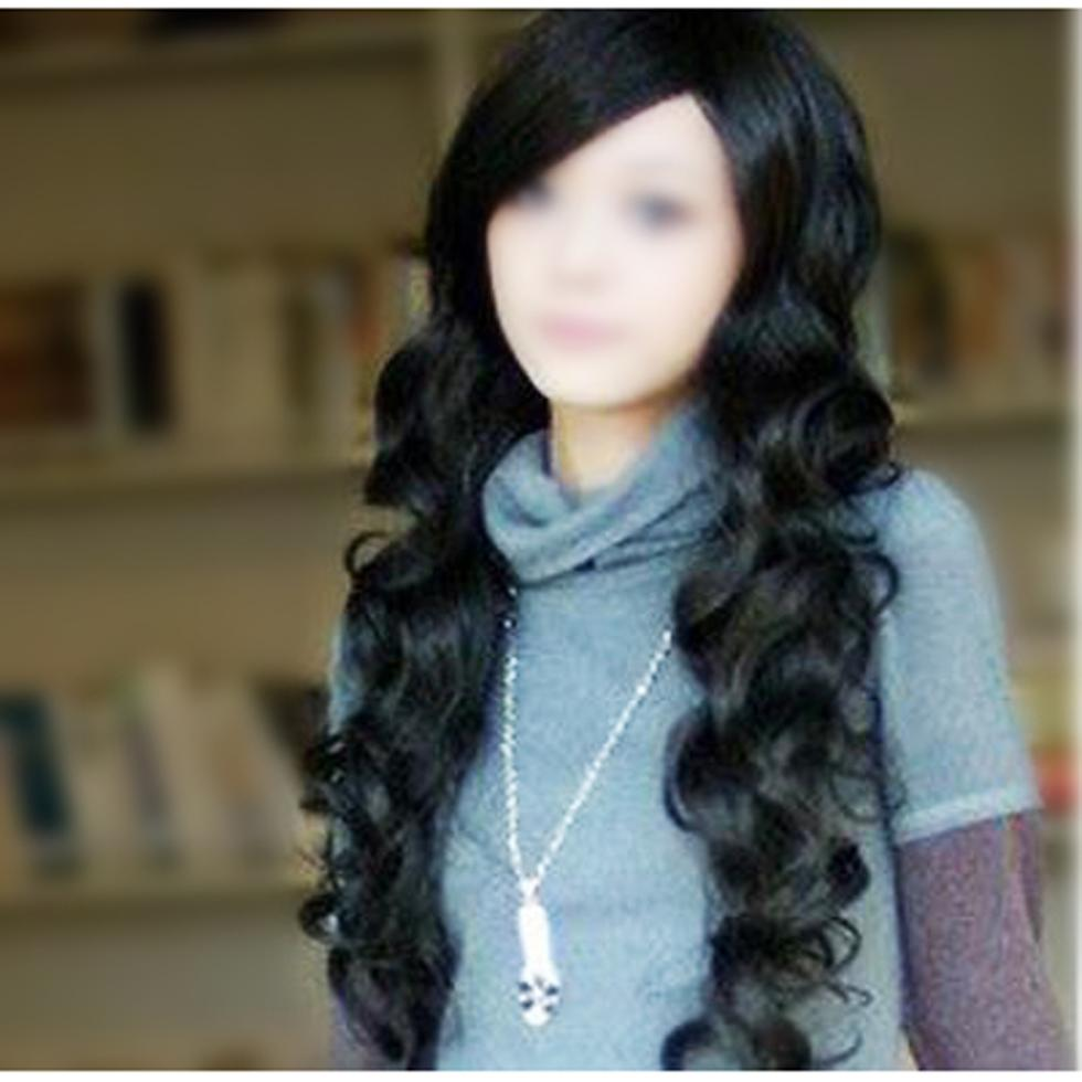 2015 Gift New Black Fashion Sexy Women Girl Long Wavy Curly Hair Full Wig Party Ball Gift(China (Mainland))