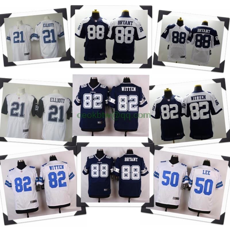 100% Stitiched,Dallas Cowboys,Tony Romo,Emmitt Smith,Sean Lee,Jason Witten,Dez Bryant,Ezekiel Elliott,customizable(China (Mainland))