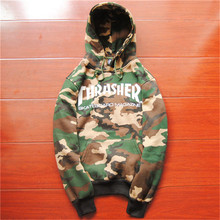 Thrasher Hoodie 2015 New Skateboard Sweartshirt Pullover Sudadera Hombre Camouflage Grey Blue Black Hip Hop Hoodie Thrasher
