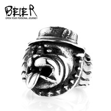 Bulldog Dog Ring Stainless Steel Fashion Jewelry Man's Fashion Jewelry Exaggerated Pet Free shipping M-TG045