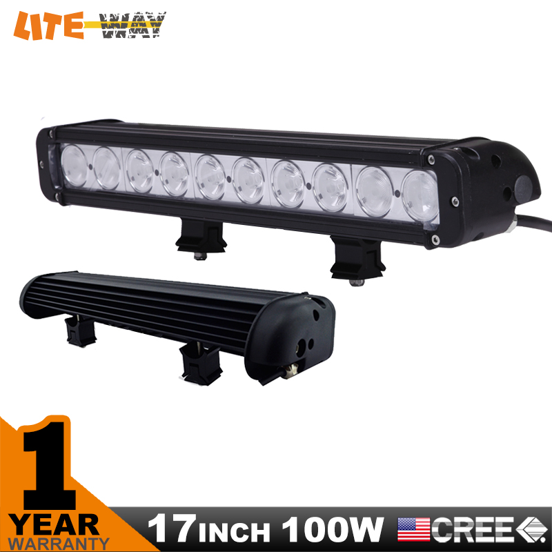 17 INCH 100W CREE LED LIGHT BAR DRIVING SPOT FLOOD COMBO BEAM FOR OFFROAD TRACTOR ATV 4x4 SUV SAVED ON 120W  -  Ningbo Lite Way Car Accessories Co.,Limited store