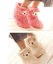 Christmas promotion gifts wholesale price woman female cute lovely sheep lamb indoor home shoes Japan export products free size(China (Mainland))