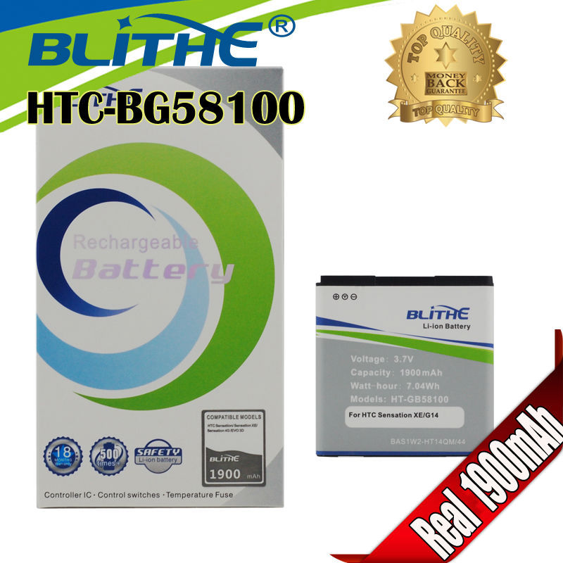 Blithe Top 1900mAh Battery for HTC EVO 3D sensation xl G14 X515m G17 Sensation XE Z715e G18,Standby time exceed any brand(Hong Kong)