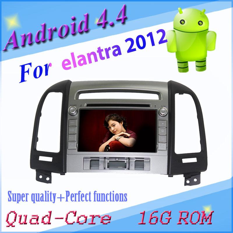 Quad core 3188 Android 4.4 car DVD/car Video player for Hyundai SANTA FE 2012 with 3g wifi gps navigation radio bt map(China (Mainland))