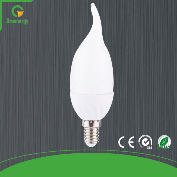 Greenergy PA B-Series AC170-260V C37L E14 LED Bulb Light 4W 6W CE ROHS Certified Factory Direct Price Shipping Free(China (Mainland))