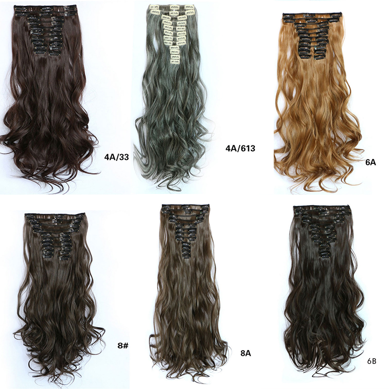 7 colors Blonde Heat Resistant Curly Hair Extension Hairpiece Hair Weave Synthetic Clip In Hair Extensions(China (Mainland))