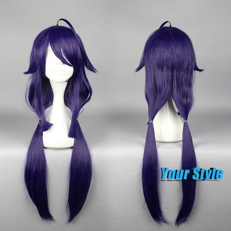80cm Dark Purple Long Straight Ponytails Cosplay Wigs Collection Women Costume Party Synthetic Cosplay Hair Wigs Anime Peruca<br><br>Aliexpress
