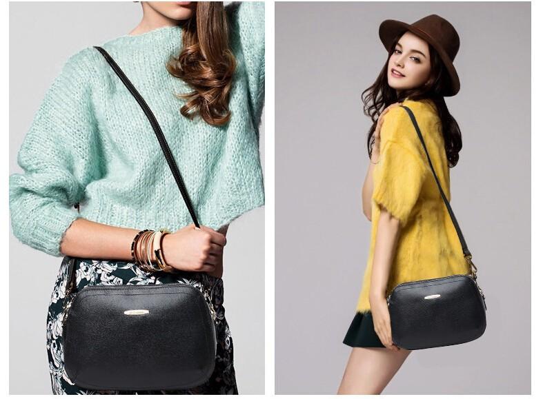 100% Genuine Leather Bag New Summer 2015 Women Messenger Shoulder