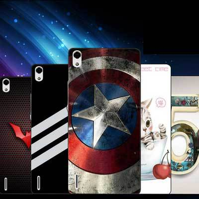 Thin appearance Simple design value offers huawei ascend p7 Case Slim Plastic Case + colored cartoon cover For ascend p7 case(China (Mainland))