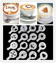 16Pcs/set Cappuccino/Latte Art Barista Stencils/Template