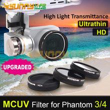 Sunnylife DJI Phantom 3/4 MCUV Стеклянный Фильтр УФ-Фильтр Ультрафиолетовый Фильтр для Phantom 4 3 Профессиональные и Передовые и Стандарт