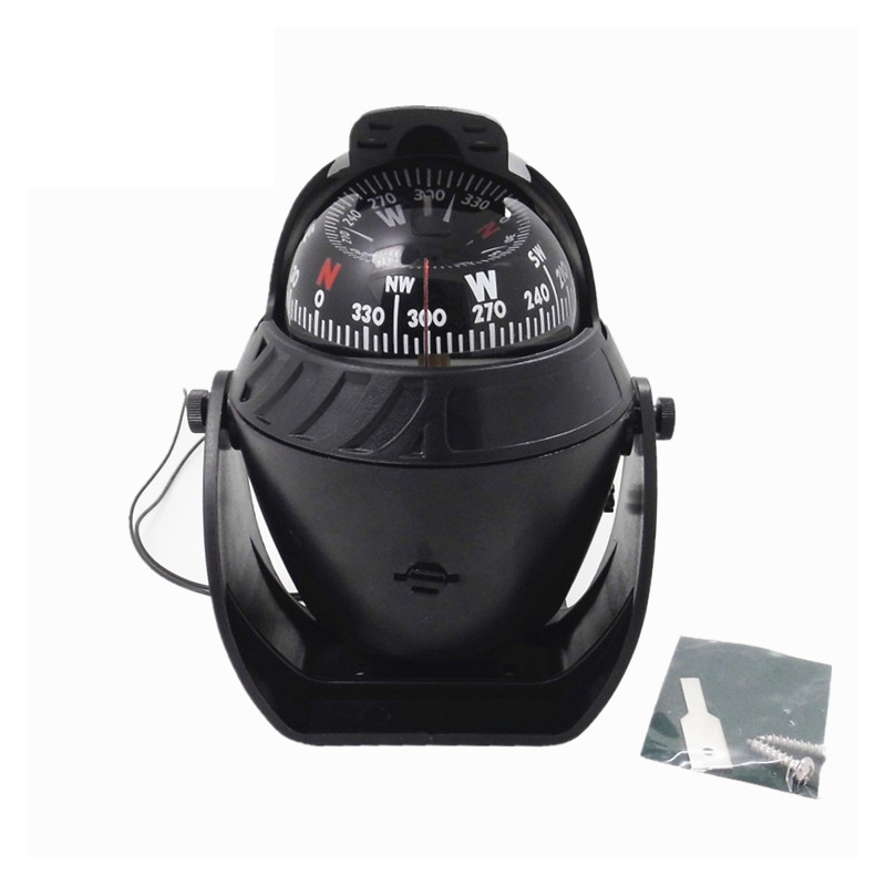 Vehicle-borne Type Led Lighted Ball Compass Truck Dashboard for Car Sea marine boat Camp Travel Electronic Digital Car Compass(China (Mainland))
