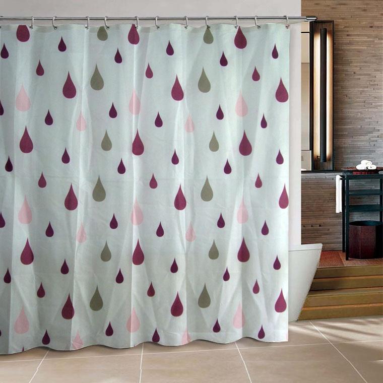 color raindrop bathroom fabric shower curtain 180x200cm