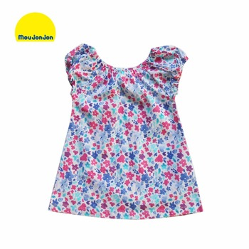 Girls Blouses 2015 Summer Style Floral Children Blouse Shirts Kids Clothes Brand Designer Kids Blouses for Girls Clothes 2-8Y
