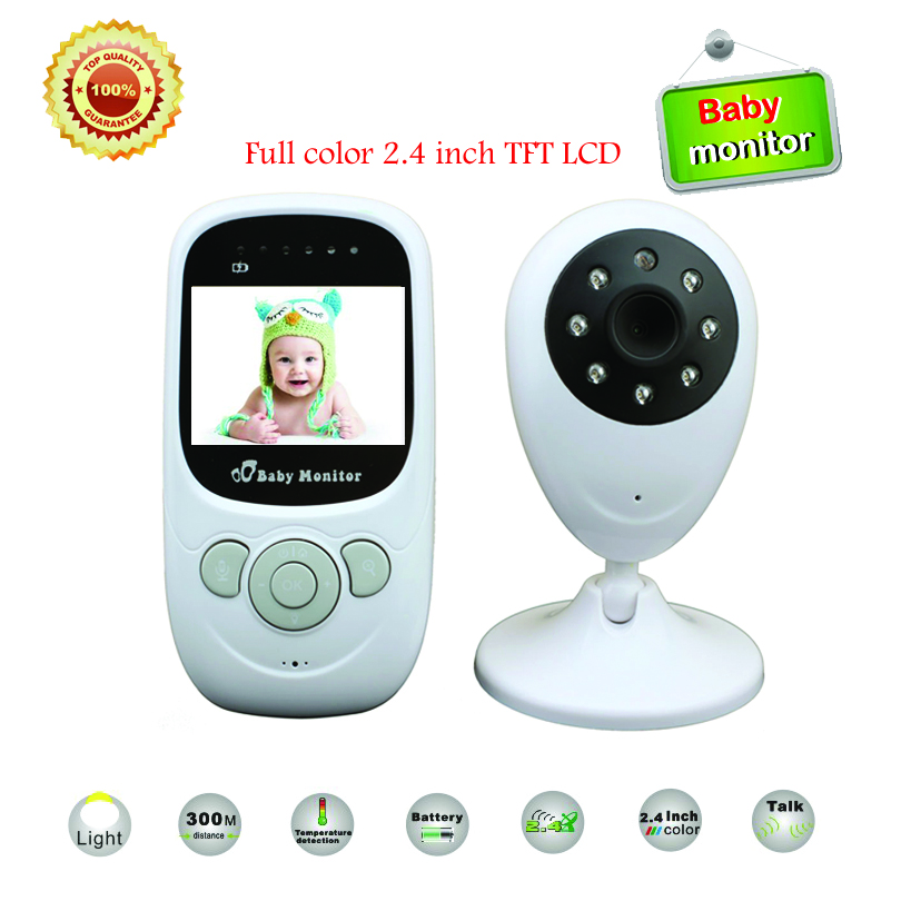 new 2 4 inch tft lcd wireless digital video baby monitor night vision ir led temperature. Black Bedroom Furniture Sets. Home Design Ideas