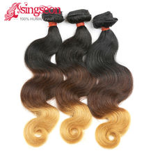peruvian ombre synthetic hair extensions peruvian ombre braiding hair 1b/4/27 burgundy peruvian hair(China (Mainland))