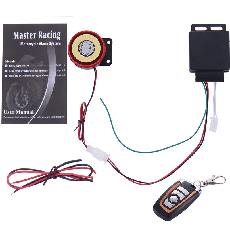 Motorcycle Motorbike Anti-theft Security Alarm System Remote Control Engine Start DC12V Guard Against Theft(China (Mainland))