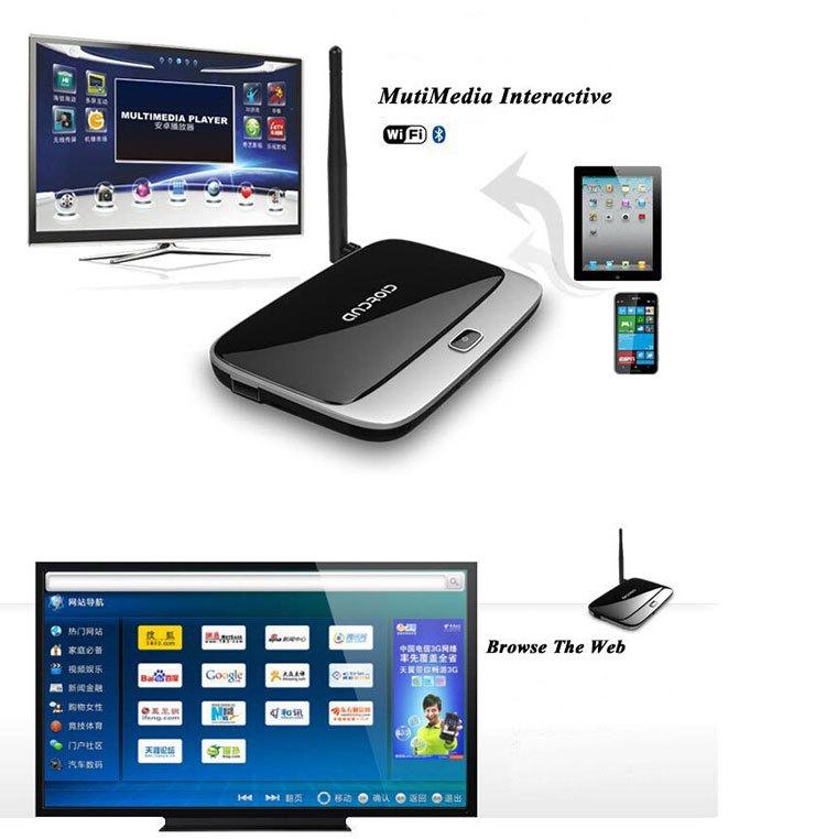 Digital TV Converter CS918 Quad Core Android 4.4 amlogic S805 Mini PC Smart tv box Player 1GB/8GB 1080P with Remote Control Plug(China (Mainland))